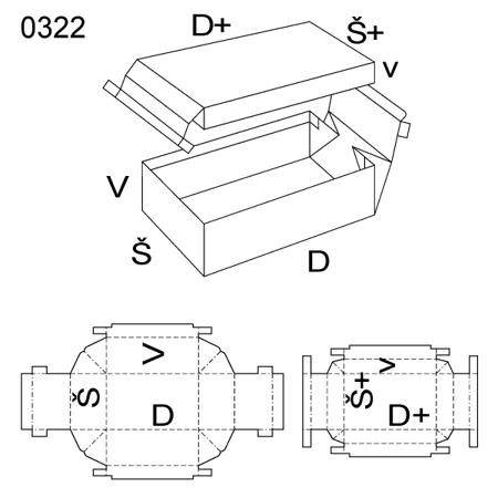 Obrázek z Krabice s víkem 0322