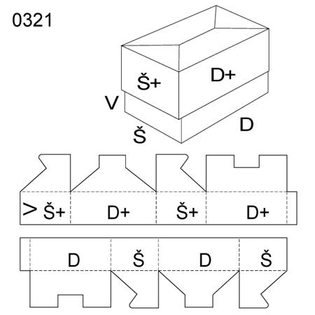 Obrázek z Krabice s víkem 0321