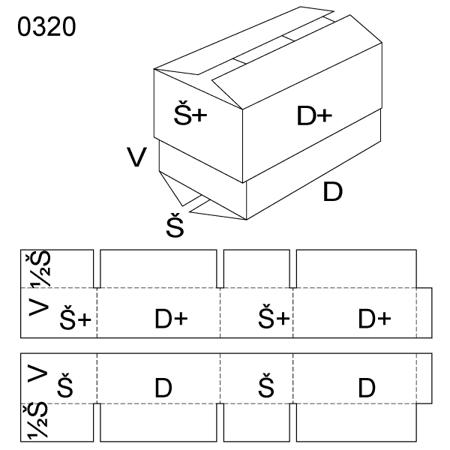 Obrázek z Krabice s víkem 0320