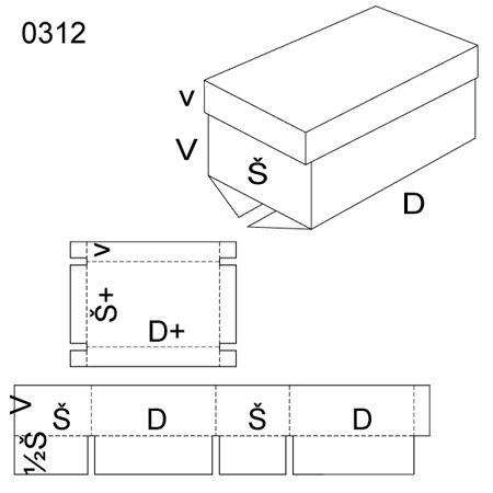 Obrázek z Krabice s víkem 0312