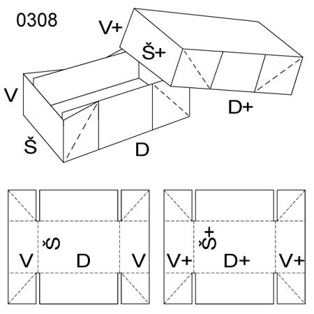 Obrázek z Krabice s víkem 0308