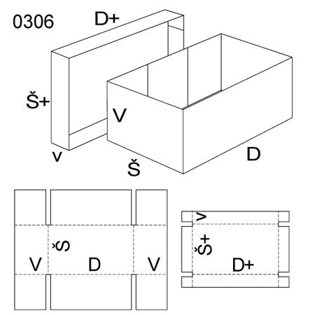 Obrázek z Krabice s víkem 0306