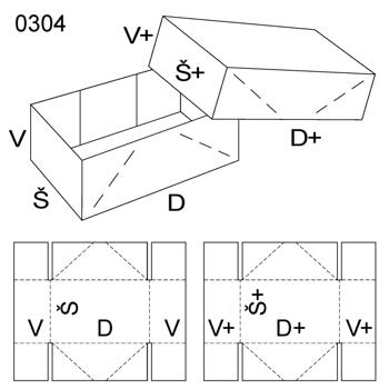 Obrázek Krabice s víkem 0304