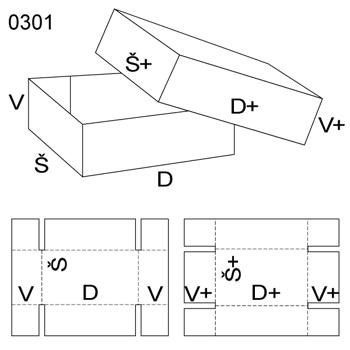 Obrázek Krabice s víkem 0301