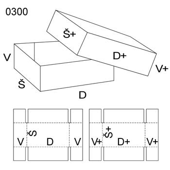 Obrázek Krabice s víkem 0300