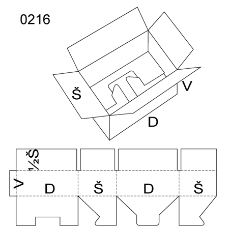 Obrázek z Klopová krabice 0216