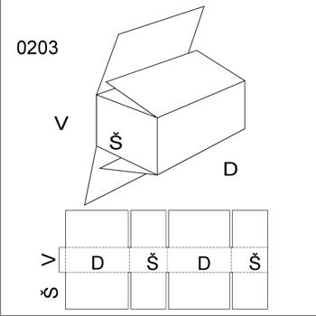 Obrázek Klopová krabice 0203