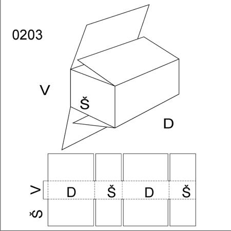 Obrázek z Klopová krabice 0203