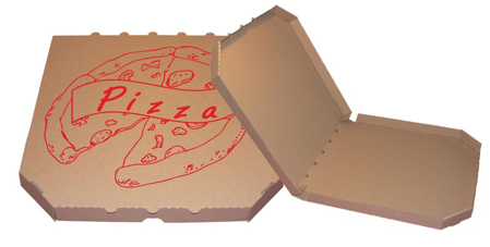 Obrázek z Pizza krabice, 45 cm, hnědo hnědá s potiskem