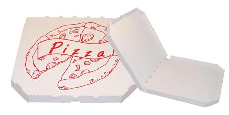 Obrázek z Pizza krabice, 45 cm, bílo bílá s potiskem