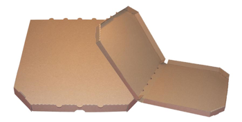 Obrázek Pizza krabice, 37 cm, hnědo hnědá bez potisku