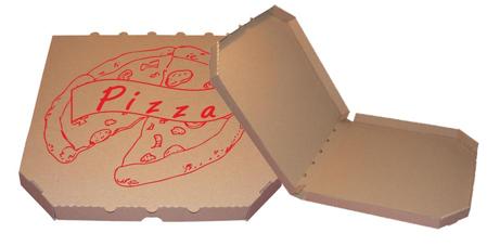 Obrázek z Pizza krabice, 30 cm, hnědo hnědá s potiskem