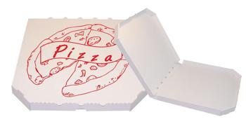 Obrázek Pizza krabice, 30 cm, bílo bílá s potiskem
