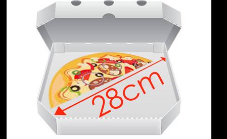Obrázek pro kategorii Krabice na pizzu 28 cm